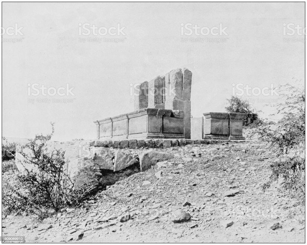 Antique photograph of World's famous sites: Place of Maximilian's Execution, Queretaro, Mexico stock photo