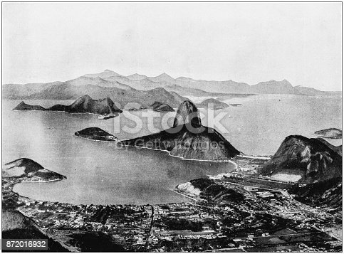 Antique photograph of World's famous sites: Rio de Janeiro