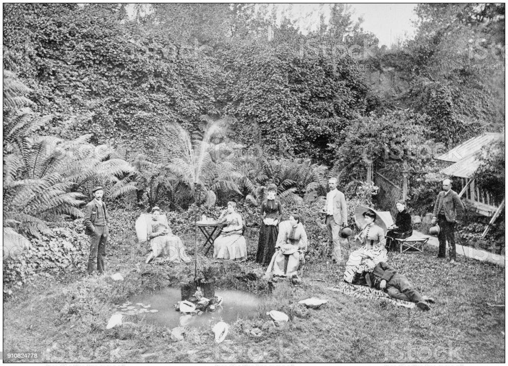 Antique photograph of World's famous sites: Royal Park, Melbourne, Australia stock photo