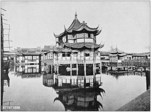 Antique photograph of World's famous sites: Shanghai