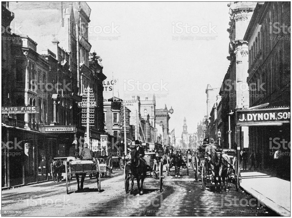 Antique photograph of World's famous sites: Sydney stock photo