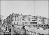 Antique photograph of World's famous sites: The Bourse, Berlin, Germany