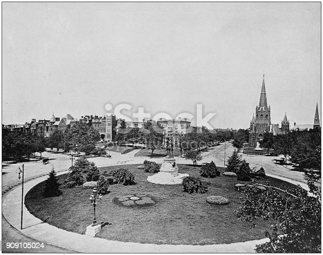 Antique photograph of World's famous sites: Thomas Circle, Washington DC
