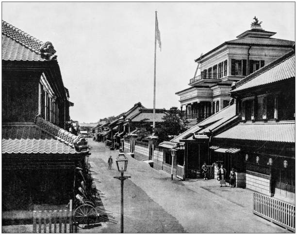 Antique photograph of World's famous sites: Tokyo, Japan Antique photograph of World's famous sites: Tokyo, Japan 20th century history stock pictures, royalty-free photos & images
