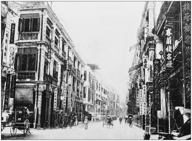 antika fotografi av världens berömda platser: victoria, hong kong - foton med hongkong bildbanksfoton och bilder