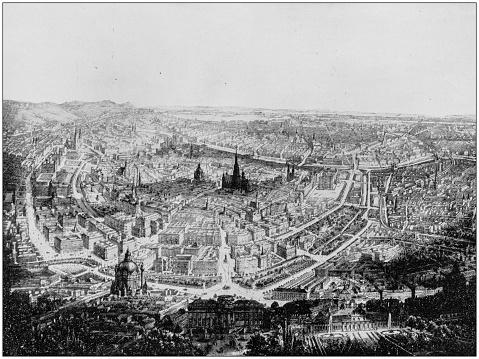 Antique photograph of World's famous sites: Vienna, Austria