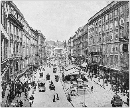 Antique photograph of World's famous sites: Vienna