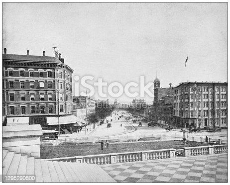 istock Antique photograph: Pennsylvania Avenue, Washington DC 1295290800
