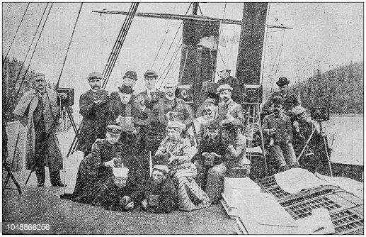 Antique photograph: Photographers group in Alaska