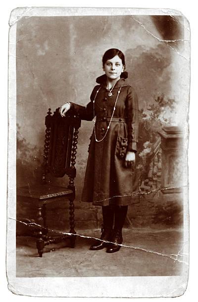 Antique photograph stock photo