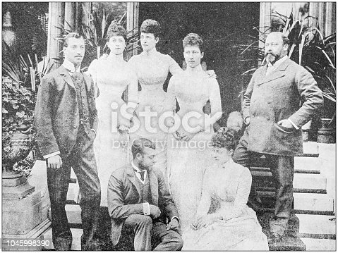 Antique photograph: Prince of Wales and Family
