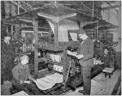 Antique photograph: Printing industry