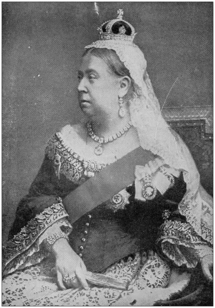 Antique photograph: Queen Victoria Antique photograph: Queen Victoria 1890 stock pictures, royalty-free photos & images