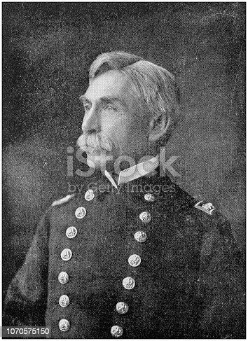 Antique photograph: Rear Admiral John Crittenden Watson
