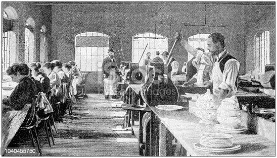Antique photograph: Royal Porcelain Works, Worcester