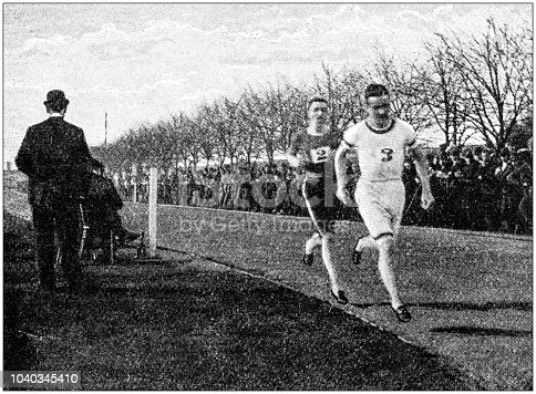 Antique photograph: Running