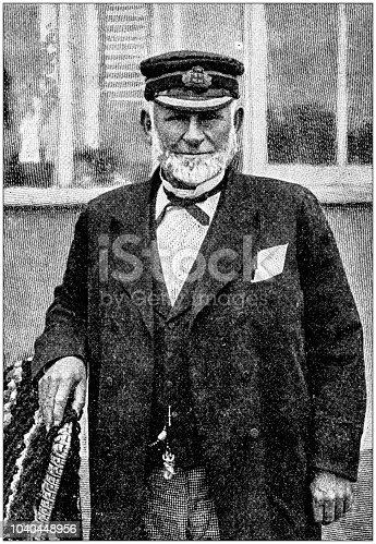 Antique photograph: Ship Captain Pilot