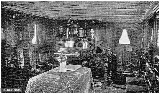 Antique photograph: Ship Cruise interiors