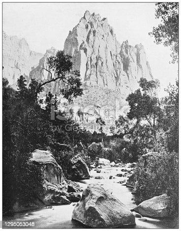Antique photograph: Shoshone Falls, Idaho