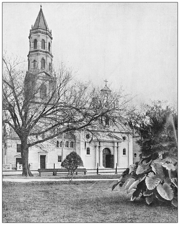 Antique photograph: St Augustine cathedral, Florida