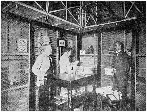 Antique photograph: Treasury Vault, Washington, USA