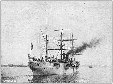Antique photograph: US Cruiser,