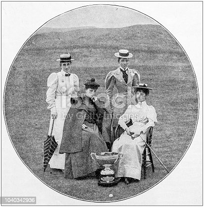 Antique photograph: Women golfer