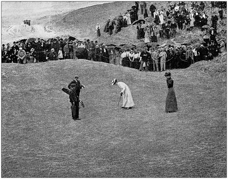 Antique photograph: Women golfer