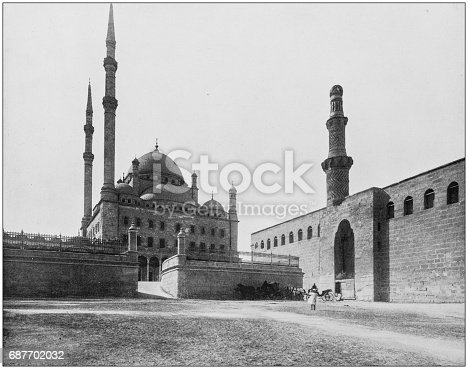 Antique photographs of Holy Land, Egypt and Middle East: The mosque of the Cairo citadel