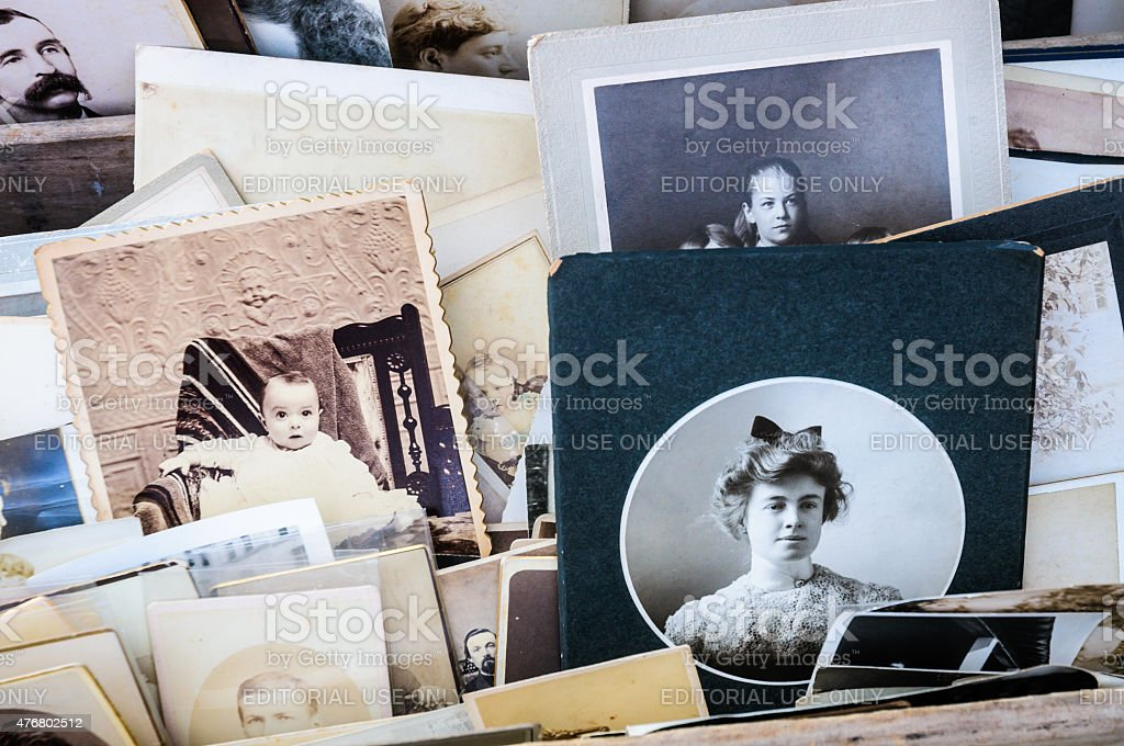Antique Photographs stock photo