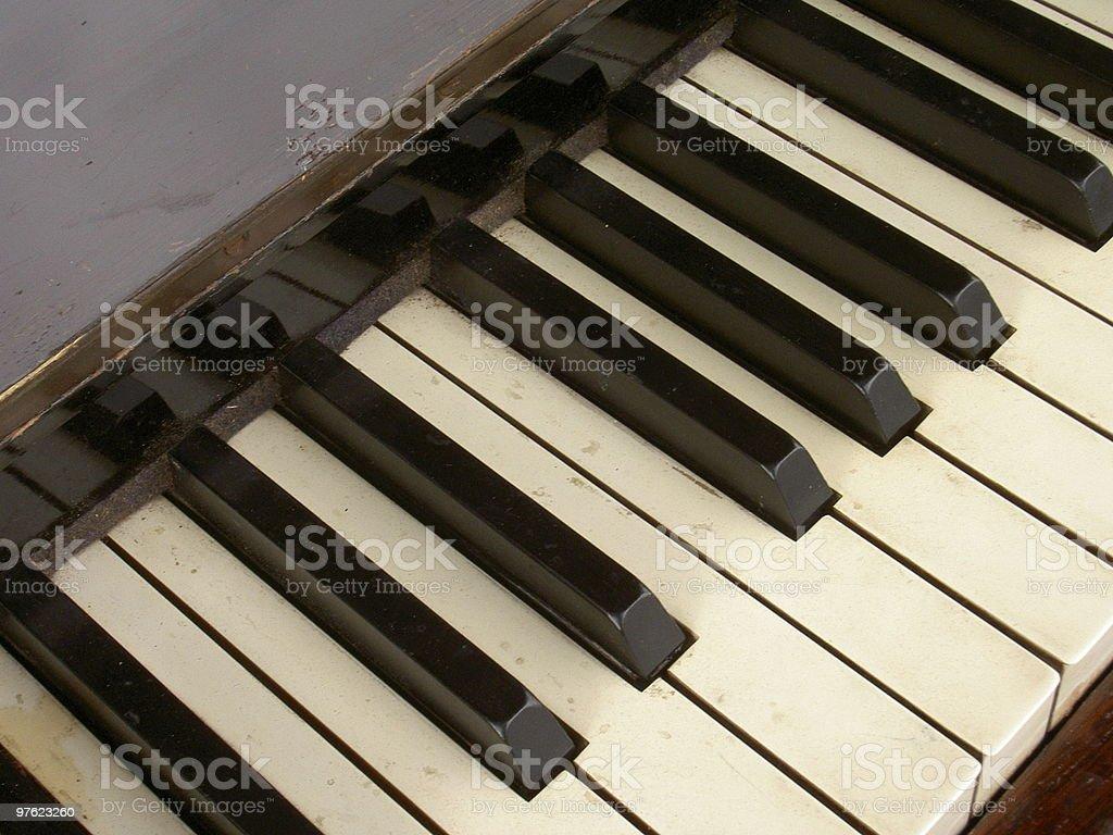 Piano ancien photo libre de droits