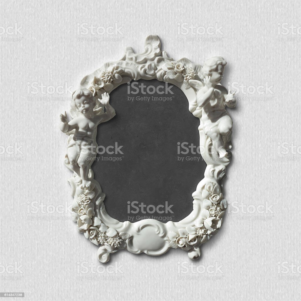 antique picture, image, photo or mirror frame stock photo