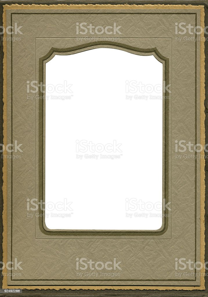 Antique picture or mirror frame royalty-free stock photo