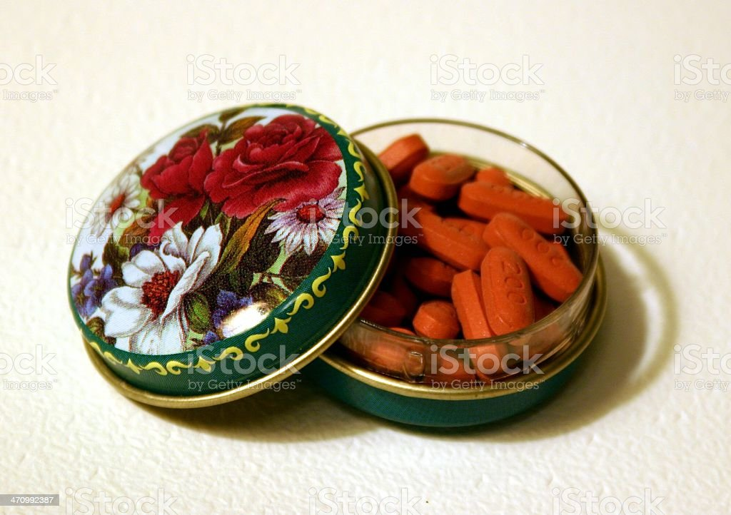 Antique pill box royalty-free stock photo