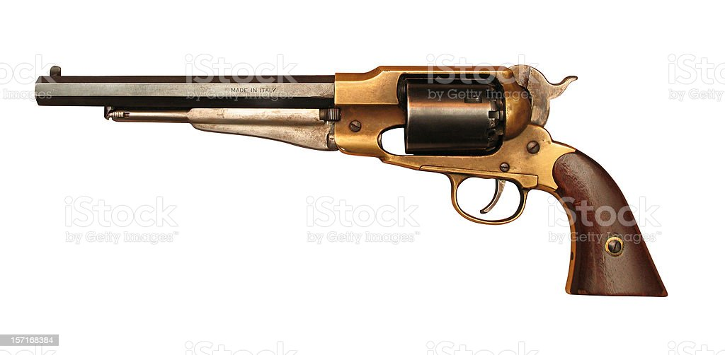Antique Pistol (with clipping path) royalty-free stock photo