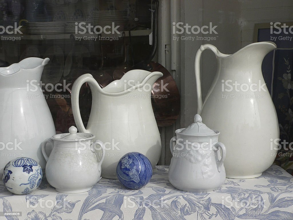 Antique Pitchers royalty-free stock photo