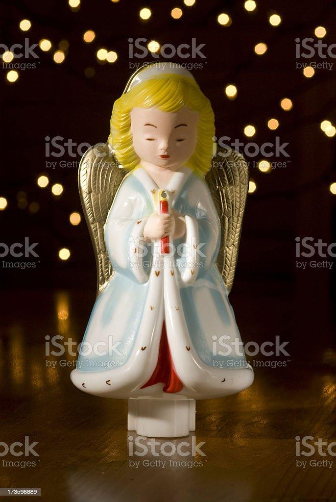 Antique Plasic Angel. royalty-free stock photo
