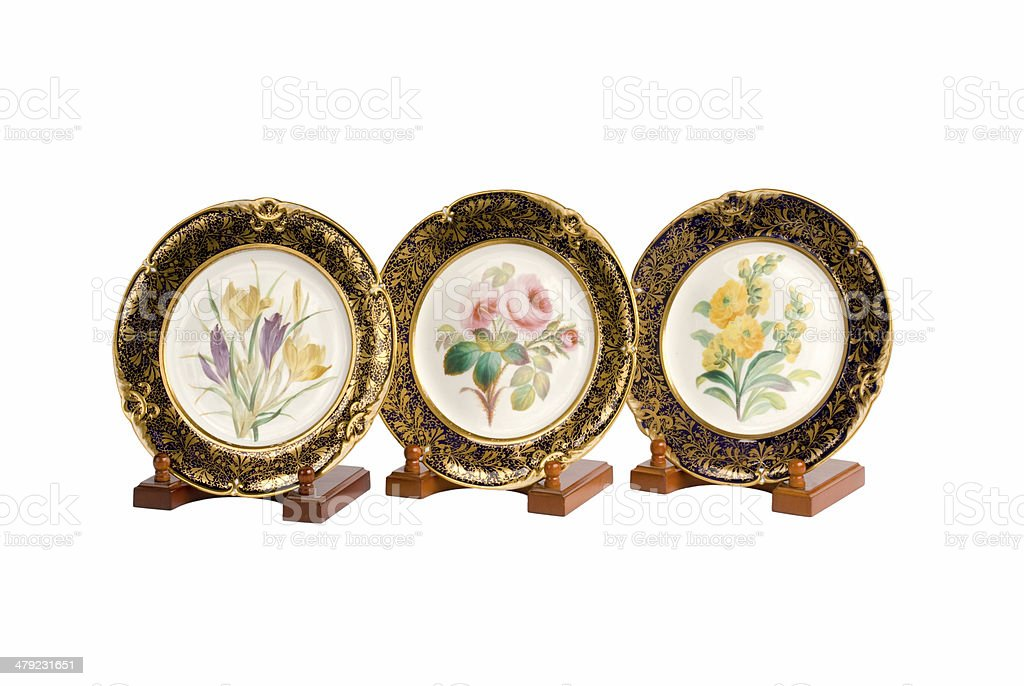 Antique Plates royalty-free stock photo