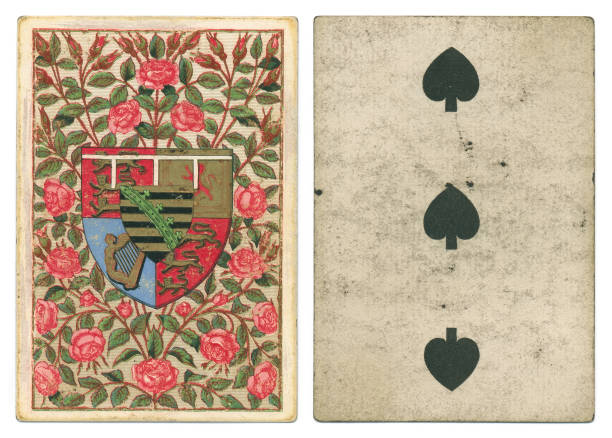 Antique playing card heraldry Saxe-Coburg and Gotha stock photo