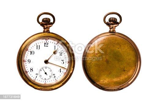 Golden vintage pocket watch.