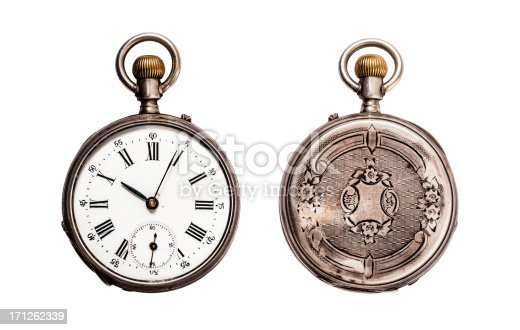 Engraved vintage pocket watch.