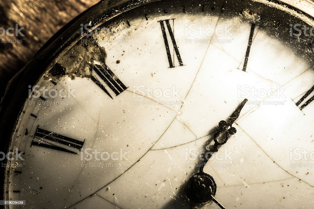 Antique pocket watch macro close up stock photo