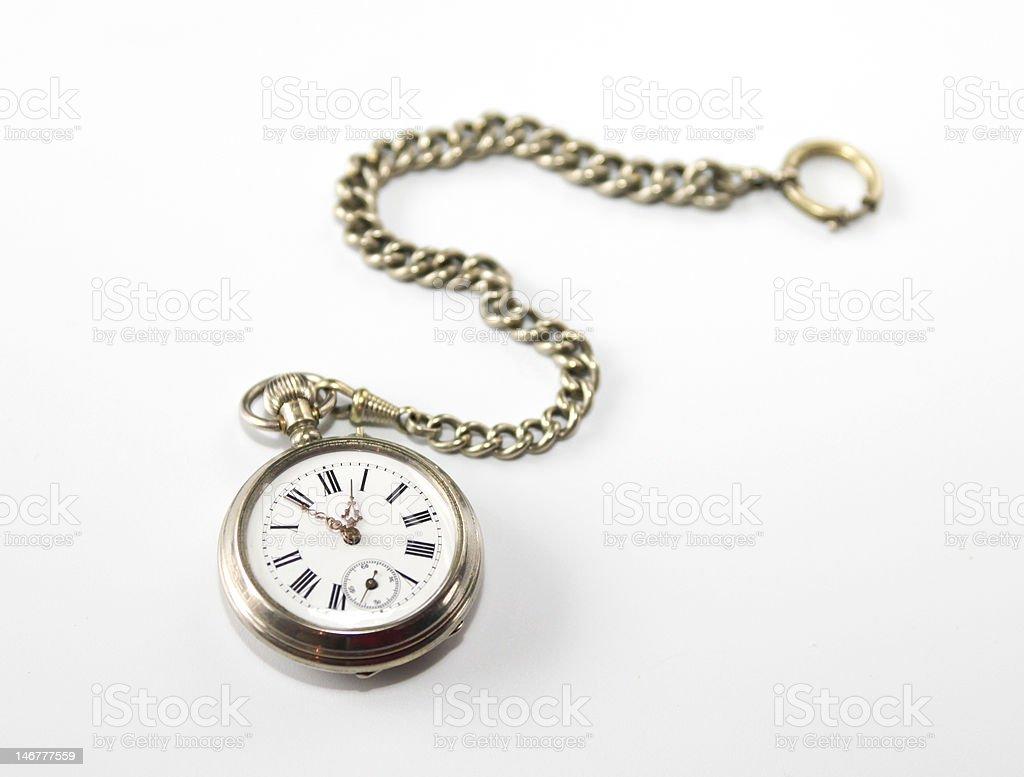 Antique pocket watch stock photo