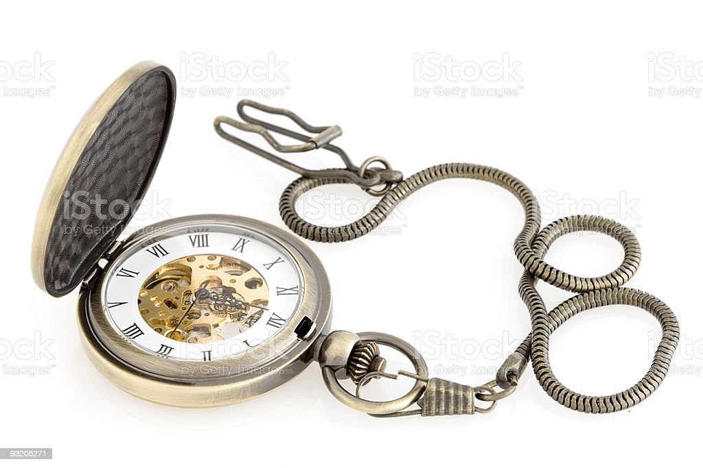 Antique pocket watch. royalty-free stock photo