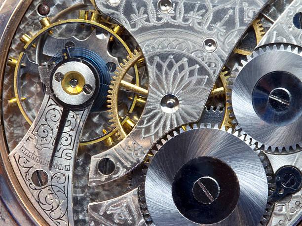Antique Pocket Watch Works--Macro stock photo
