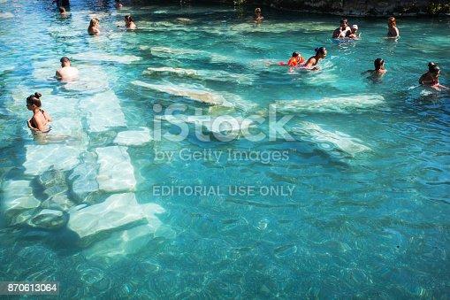 istock Antique Pool in Hierapolis Ancient City, Turkey 870613064