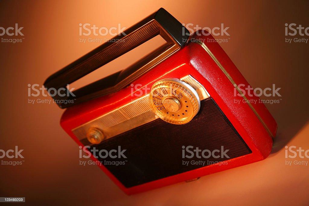 antique portable radio royalty-free stock photo
