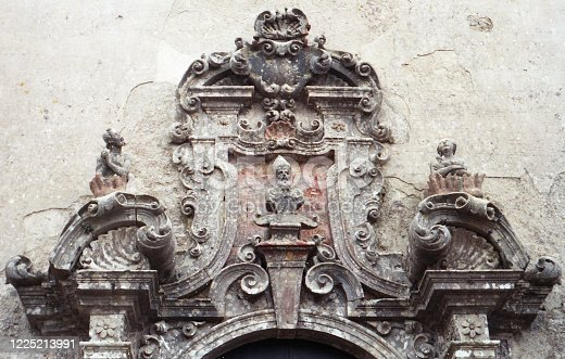 Antique Portal With Bas-Relief, scan of photo taken in Italy