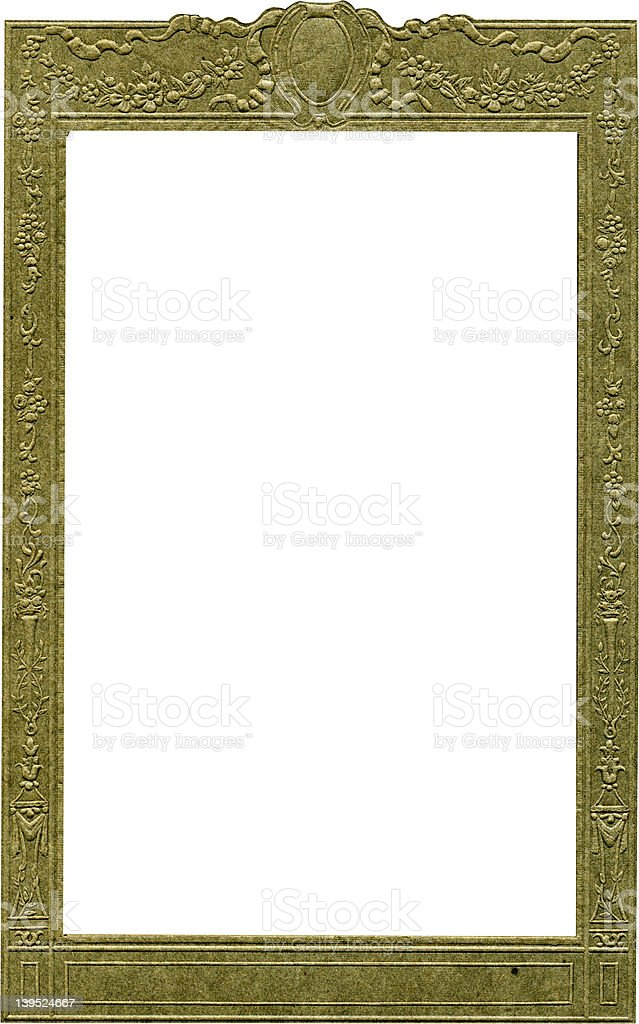 Antique portrait frame with work paths. royalty-free stock photo