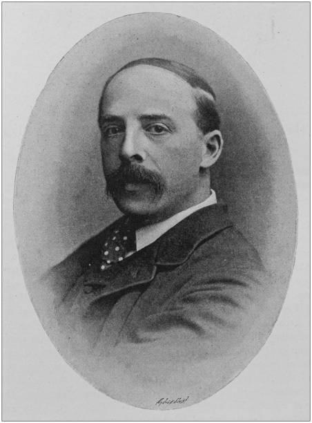 antique portrait of famous men: frederic hymen cowen - hymen stock photos and pictures